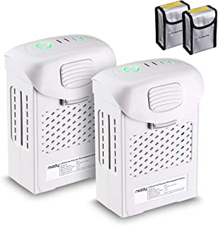 2 Pack Miady LiPo Phantom 4 Battery, Replacement Battery for Phantom 4 Series/w 1 Battery Safe Bags, 5870mAh 15.2V 89.2wh, Max. 30mins Flying Time, Replacement for DJI Phantom 4, Phantom 4 Pro, Etc