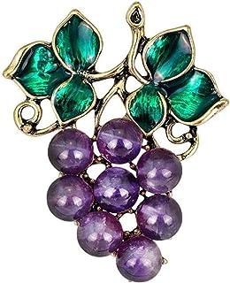 FOPUYTQABG Broche de hoja de fruta, broche de metal exquisito, insignia de la decoración de la bolsa de ropa de las señoras