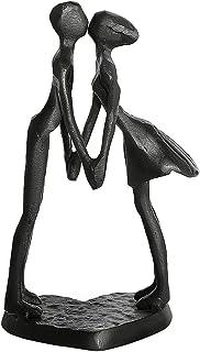 Aoneky Statuette Couple - Sculpture Homme Femme en Fer - Statue Amour - Décoration de Maison, Famille, Noël- Cadeau pour A...