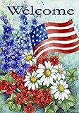 Toland Home Garden 112060 Patriotische Willkommens-Garden Flag, Bunt