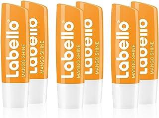 Labello Mango Shine balsamo per le labbra con delicata lucentezza e pigmenti brillanti e sapore di mango, cura delle labbr...