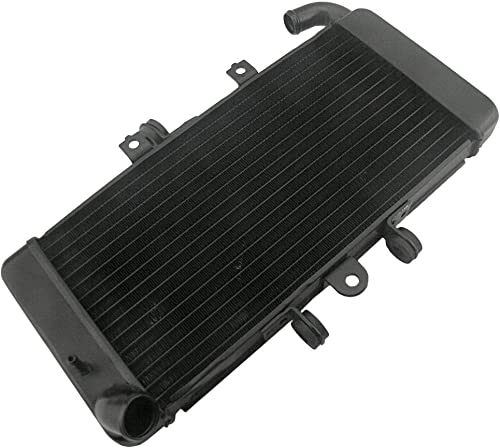 high quality Mallofusa Motorcycle Radiator Cooling new arrival Cooler Compatible for Yamaha FZ400 1997 1998 1999 2000 2001 2002 2003 2004 2005 2006 2007 2008 2009 sale 2010 2011 Black outlet sale
