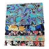 adfafw Ranana Set DIY 50x50 cm Tela Japonesa 100 algodón de los Cuartos gordos Tela Floral Que broncea de la Flor de Cerezo del Estilo japonés para acolchar Patchwork Costura economical