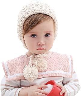 Winter Warm Crochet Hat Cap Bonnet for Baby Girl Toddlers Infants