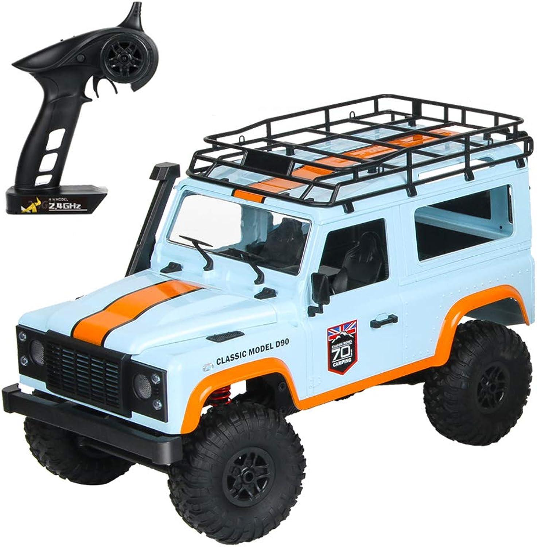 Lisanl MN 99 2.4G 1 12 4WD RTR Crawler RC auto giocattolo modellololo Outdoor giocattoli bambini (bianco, blu) blu