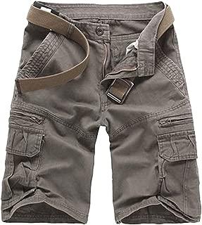 Hombres Verano Pantalones Cortos Carga Multi-Bolsillo Bermuda Cortos Deporte Shorts Casual Clásico Shorts de Cargo