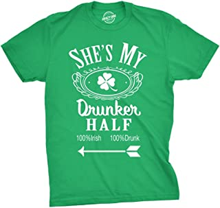 Mens Shes My Drunker Half Funny Couples Drinking T Shirt