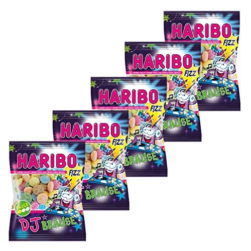 Haribo Dj Brause, 5er Pack, Gummibärchen, Weingummi, Fruchtgummi, Im Beutel, Tüte
