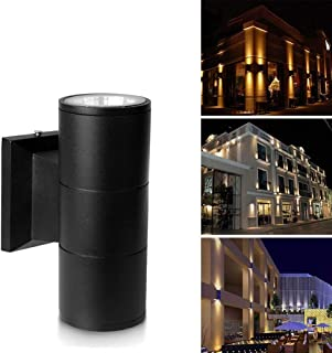 Improvhome Metal Up Down Cylinder Outdoor Wall Light