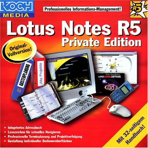 Lotus Notes R5, Private Edition, 1 CD-ROM in Jewelcase Professionelles Informationsmanagement. Für Windows 95/98/NT