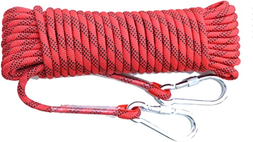 ZAIYI-Climbing rope Corde Antidérapante De Sauvetage De Sécurité D'aventure en Plein Air De 14MM,rouge-20m14mm