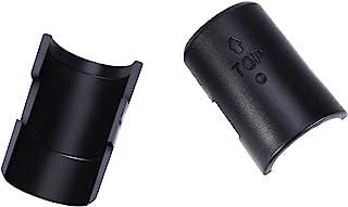 Canomo 32 Pairs Wire Shelf Lock Clips Split Sleeves Shelving Metal Rack Locking for Post Shelving Sleeve, Black