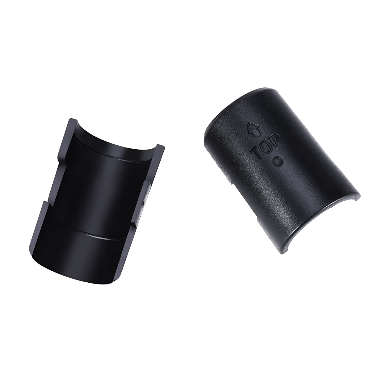 Canomo 32 Pairs Wire Shelf Lock Clips Split Sleeves Shelving Metal Rack Locking for 3/4 Inch Diameter Post Shelving Sleeves, Black