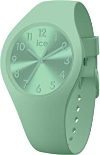 Ice-Watch - Ice Colour Lagoon - Montre Verte pour Femme avec Bracelet en Silicone - 017914 (Small)