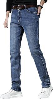 Generic11 Pantaloni in Denim da Uomo Slim Fit Resistenti allo sbiadimento Elastici Tasche Resistenti all'Usura Jeans da La...