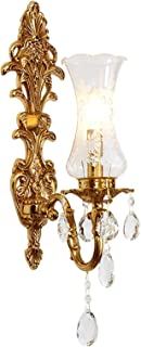 Sconce/Wall Sconces Wall Lamp Copper Crystal Wall Lamp Creative European Style Living Room Background Wall Bedroom Corrido...