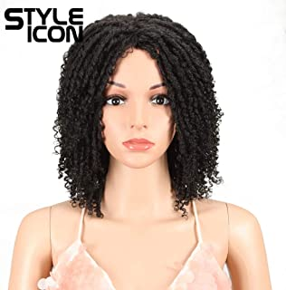 """Style Icon 6"""" Short Dreadlock Wig Twist Wigs for Black Women Short Curly Synthetic.."""