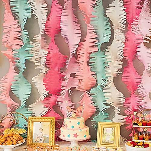 YBwanli papel crepe, cortina fiesta,pompones,banderines cumpleaños,Suministros para fiesta de boda,guirnalda cumpleaños,es un estilo innovador,Adecuado para decoración de cumpleaños y fiestas