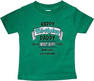 Happy Birthday, Daddy in Blue Baby T-Shirt