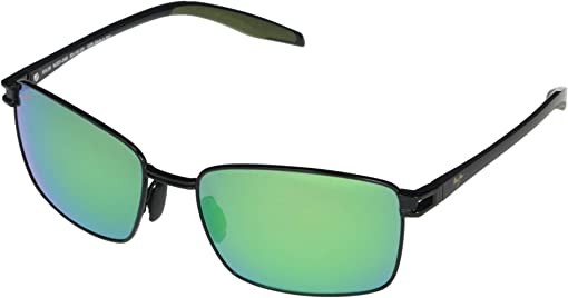 Black w/ Black Temples & Olive Green Rubber