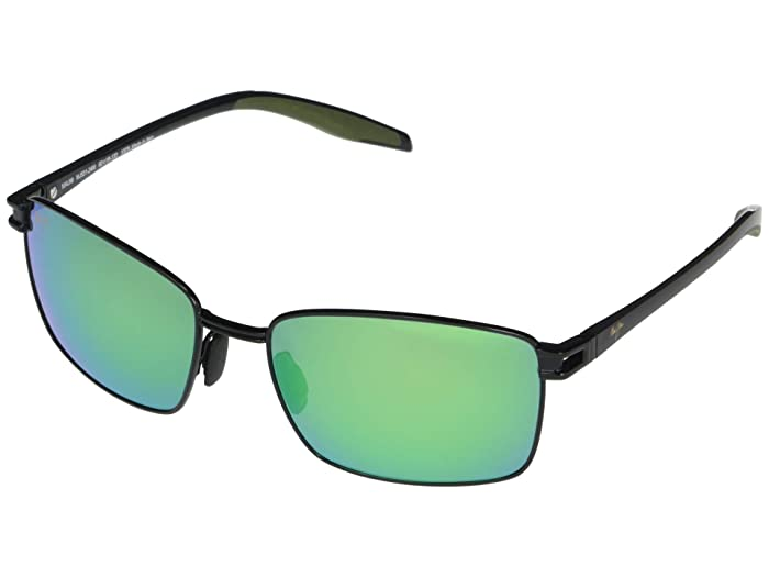 Maui Jim  Cove Park (Black with Black Temples and Olive Green Rubber) Fashion Sunglasses