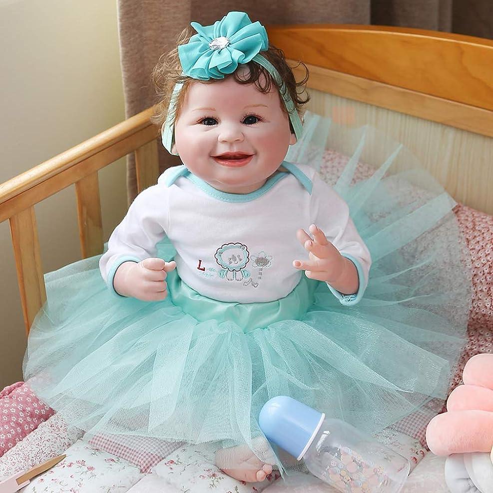 つらい不完全薬用Reborn Baby Dolls 55CM Reborn Baby Princess Lovely Lifelike Soft Body Toddler Doll Collectibles Art Doll Realistic Newborn...