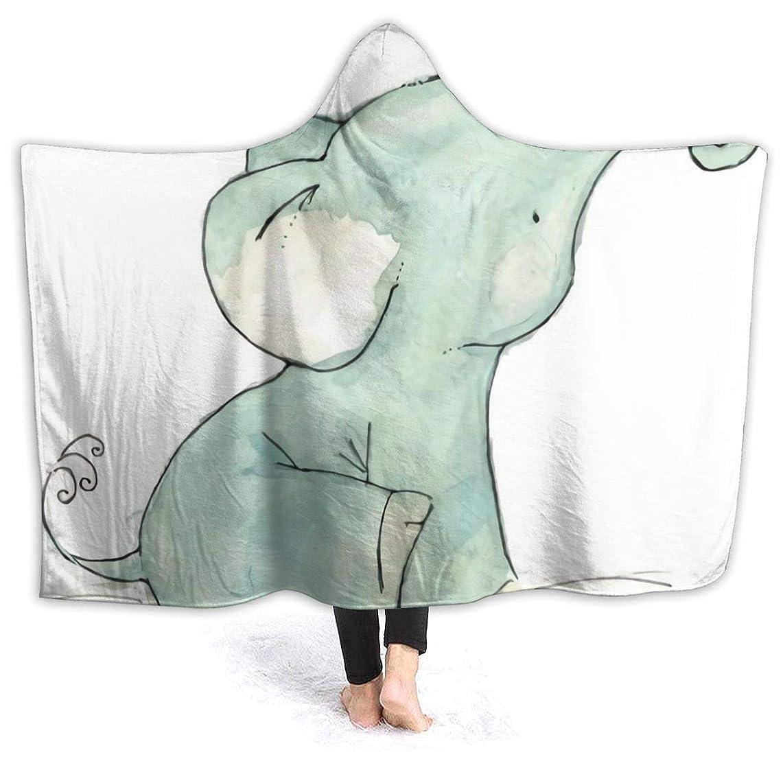 警報登る価値のないHR.LLM 象 ゾウ フード付き毛布 着る毛布 毛布 膝掛け毛布 ラップタオル 冷房/防寒対策 防寒保温 防静電加工 軽量 厚手 大判