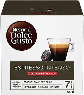 NESCAFÉ Dolce Gusto Espresso Intenso Decaffeinato Coffee Pods, 16 Capsules (16 Serves), 112 g