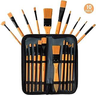 Conda - Juego de pinceles acrílicos con estuche para principiantes, estudiantes, profesionales y artistas