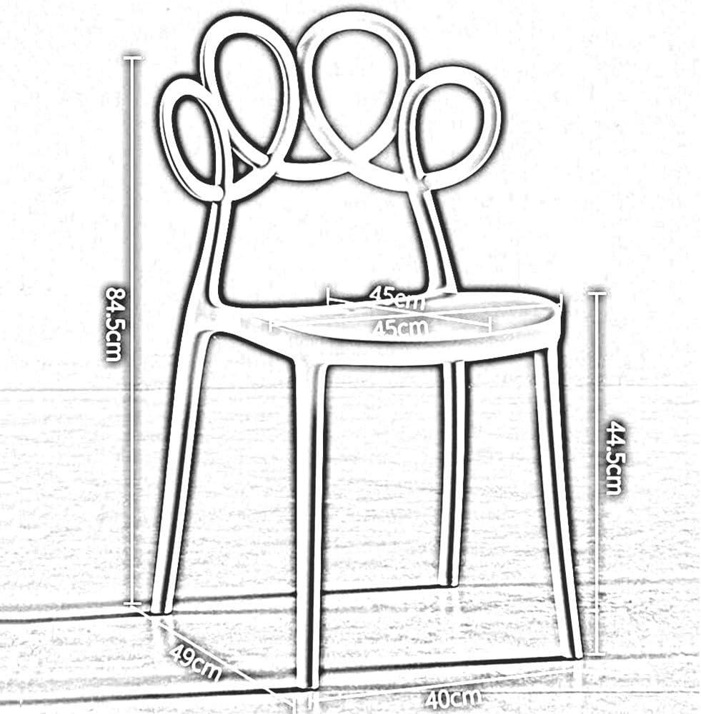 DALL Chaise De Salle À Manger Moderne Simple Plastique Chaise De Maquillage Restaurant Chaise De Table Dossier Bureau Chaise De Café De Loisirs 40X49X84.5cm (Color : Yellow) Orange