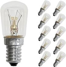 10 x gloeilamp buis T26x56 koelkastlamp 15W E14 helder gloeilamp gloeilampen 15 Watt warm wit dimbaar (helder, 10 stuks)