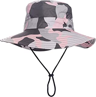 Outdoor Sun Hat, Waterproof Fishing Hat Sun Protection Summer Boonie for Man and Women Foldable Bucket Hat for Hiking