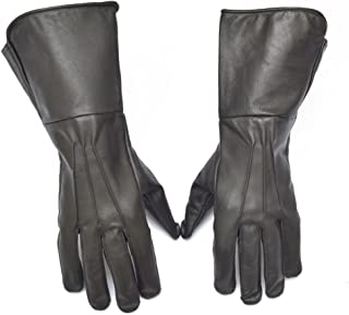 medieval leather gauntlet gloves