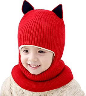 Anxinke Women Winter Warm Soft Wool Knitted Hats with Ear-Flaps