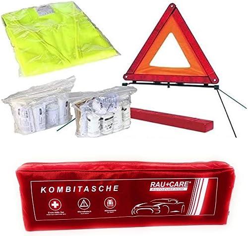 Phil trade Sacoche multifonctions pour véhicule Rouge Contient une trousse de secours conforme à la norme DIN 13164, ...