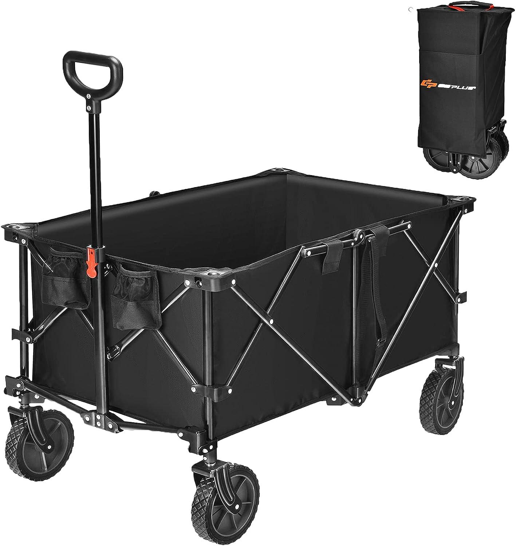 Goplus Collapsible Wagon Cart 7.5Cu.ft to Weekly update Fold Easy Overseas parallel import regular item Util Garden