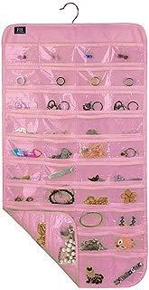 BB Brotrade Hanging Jewelry Organizer,Accessories Organizer,80 Pocket Organizer for Holding Jewelries (Pink)