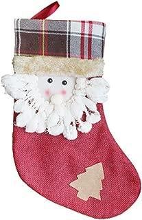 Padaleks Christmas Pendant Cute Santa Claus Snowman Plush Applique Xmas Socks Ornaments Candy Socks Gifts Bag