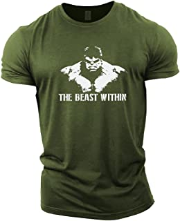 Best Mens Bodybuilding T-Shirt - Beast Within - Gym Training Top Review