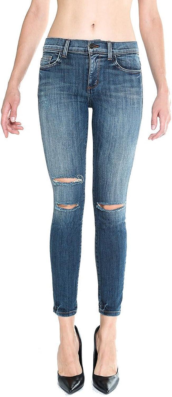 Siwy Denim Lauren Skinny Mid Rise Slim Crop Jeans , Reckless Wash