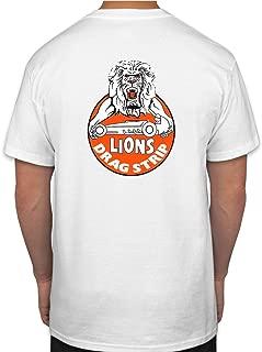 Lions Drag Strip Hot Rod Rat Nostalgia Drag Race Racing NHRA White Short Sleeve Shirt