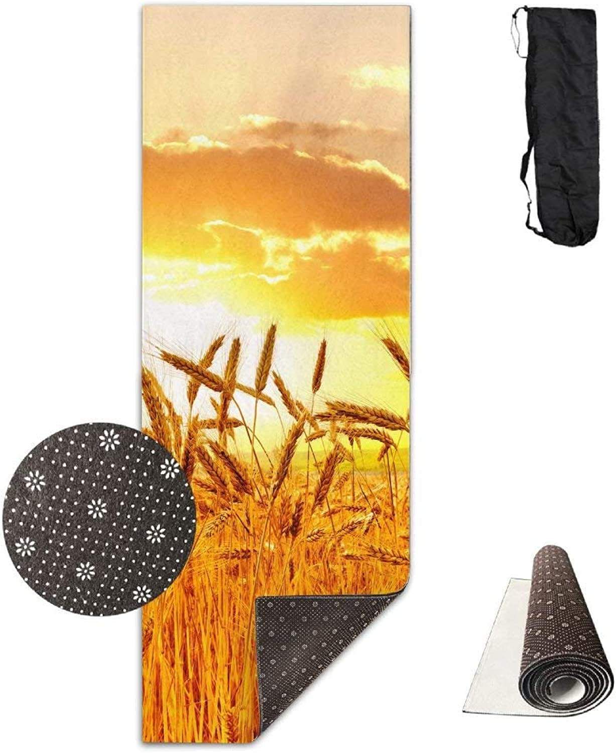 Fields Sunrises and Sunsets Sky Deluxe Yoga Mat Aerobic Exercise Pilates