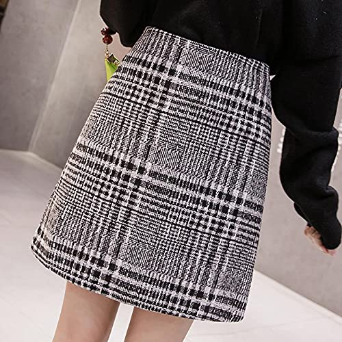 Secuos Falda Mujer Mini Faldas De Línea A para Mujer, Faldas A Cuadros Informales por Encima De La Rodilla,...