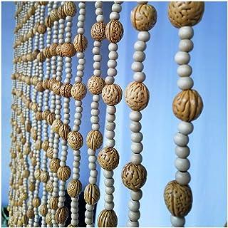 Beaded Curtain Wooden Beads Door String Curtains for Door Or Windows Partition Doorway Closet Passage Hanging Strings Pane...