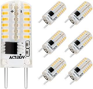 EKSAVE G8 LED Bulbs, Dimmable 110V 2.5W Warm White 3000K, 48 X 3014 SMD Energy Saving Light Bulbs,20W Halogen G8 Light Bulb Equivalen for Light Fitting (6 Pack Warm White)