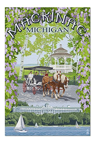 Mackinac, Michigan - Montage Scenes 41308 (19x27 Premium 1000 Piece Jigsaw Puzzle for Adults, Made in USA!)