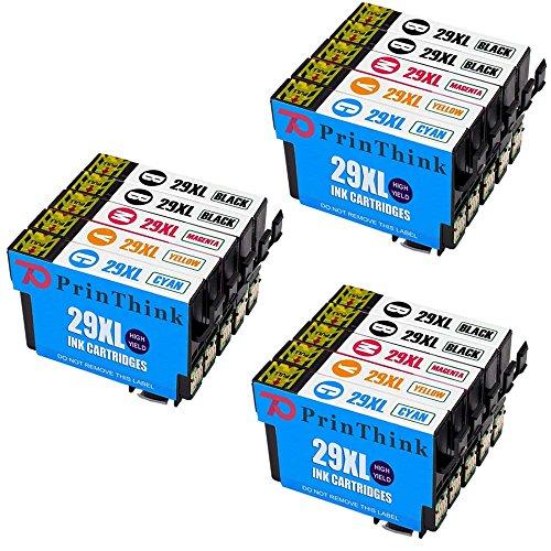 PrinThink 29XL 15 Cartuccia d'inchiostro Compatibile per Epson XP-235 XP-245 XP-247 XP-332 XP-335 XP-342 XP-345 XP-430 XP-432 XP-435 XP-442 XP-445 XP-355 XP-352 XP-257 XP-255 XP-455 XP-452