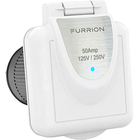 Furrion 50 Amp 125/250 Volt Shore Power Inlet with Marine Grade quality and Powersmart technology - F52INS-PS-AM