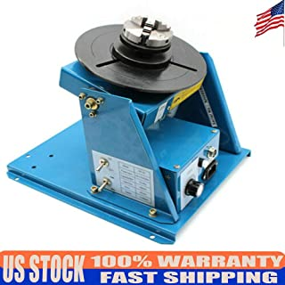 DONNGYZ Rotary Welding Positioner Turntable Table Mini 0-90ºWelding Positioning 2.5