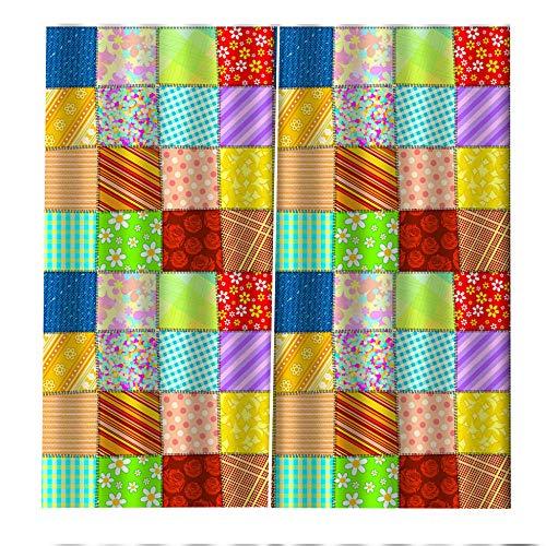 RYQRP Gordijn 3D bloem kleurrijk patroon gordijn ondoorzichtig polyester met haken set van 2 verduisteringsgordijn voor slaapkamer kinderkamer woonkamer decoratie 280x250cm